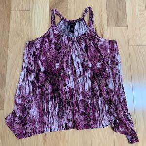 Lane Bryant Purple Sleeveless Top